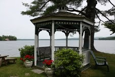 gazebo by lake winnisquam nh