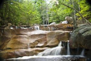 New Hampshire vacation at waterfall Diana's Baths