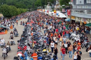 Laconia downtown filled with visitors for Motorcycle week one of the most fun things to do in Laconia NH